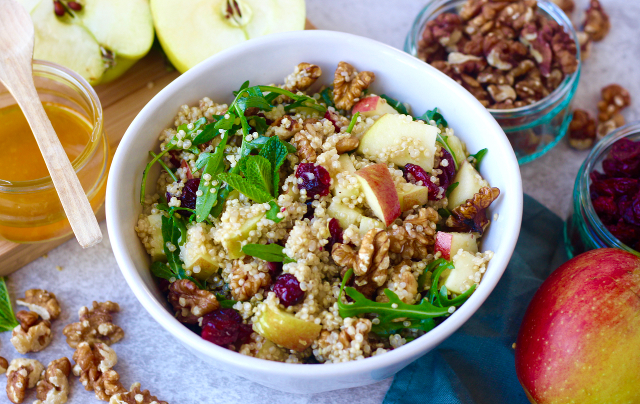 Apple, Cranberry & Walnut Quinoa Salad