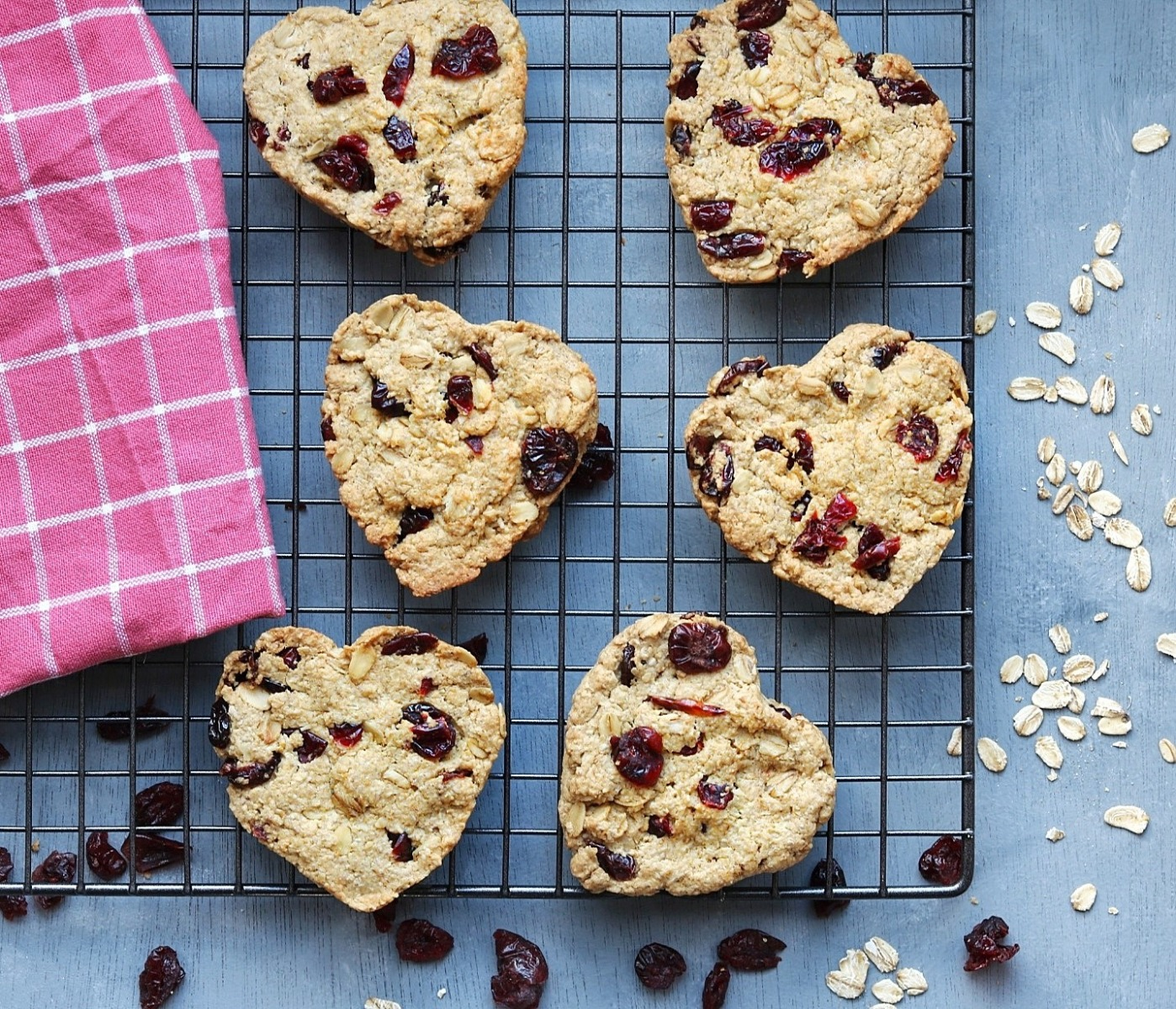 Cranberry And Heart Biscuits