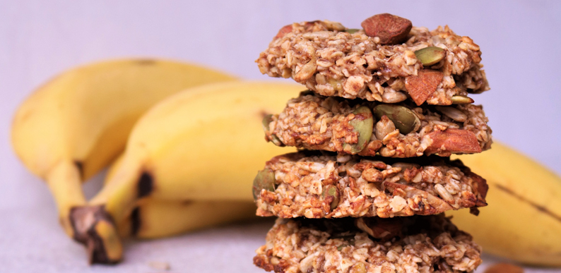 Banana and Oat Seed Cookies
