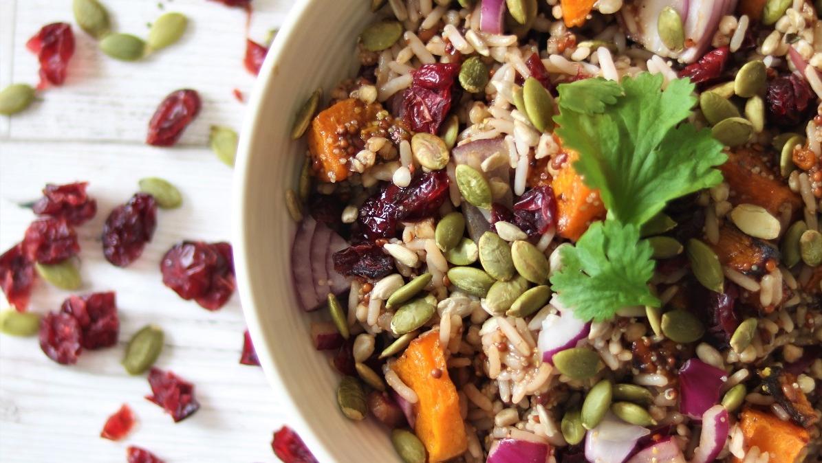 Butternut Squash, Seeds & Cranberry Salad