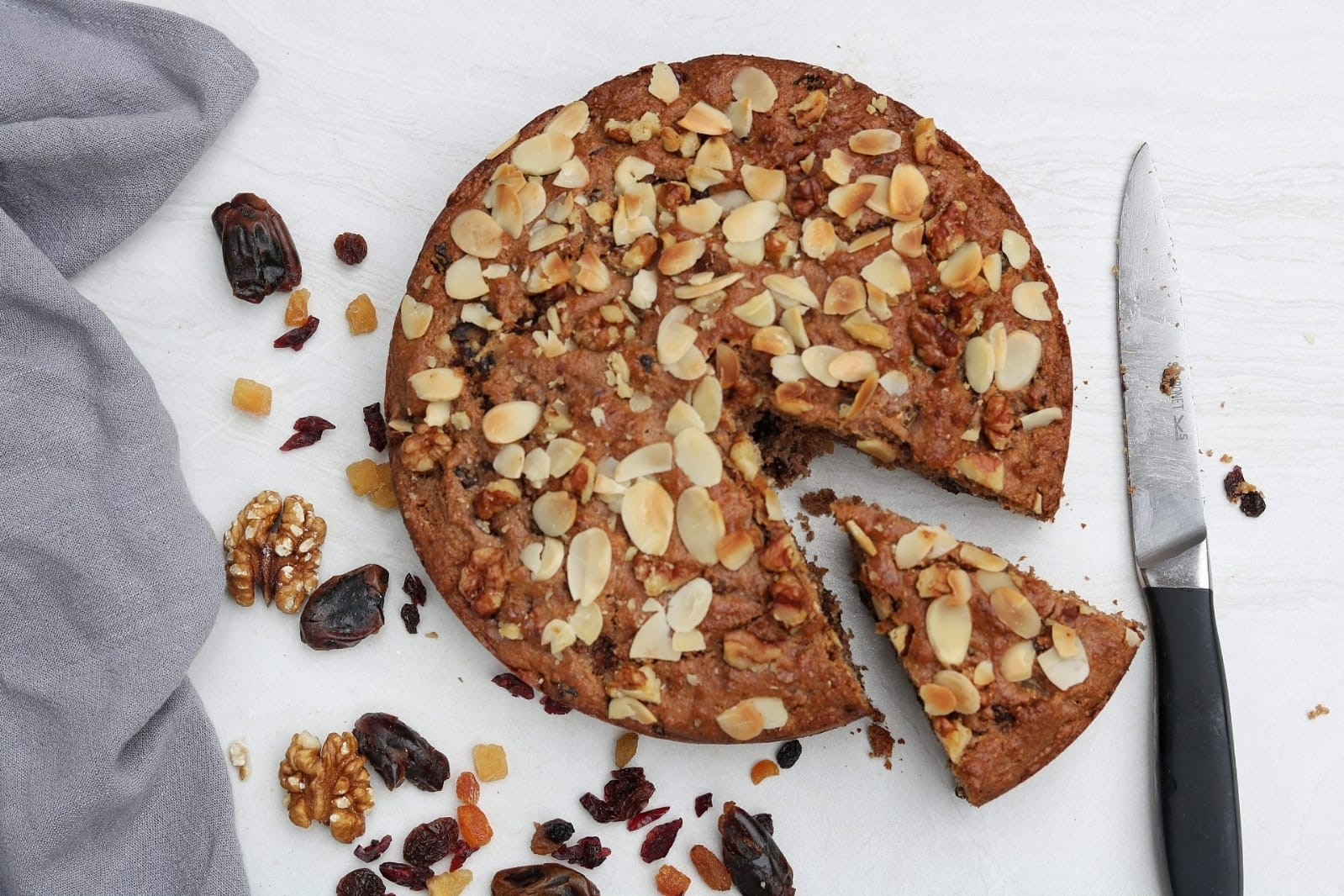 Dried Fruit Cake Recipe - Vegan