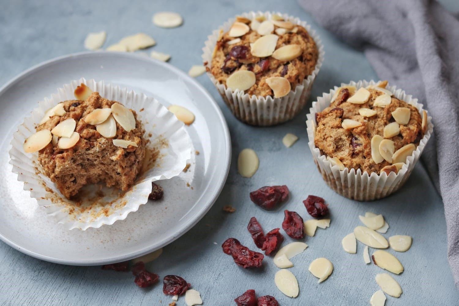 Dried Fruit Cupcakes with Cranberries & Orange