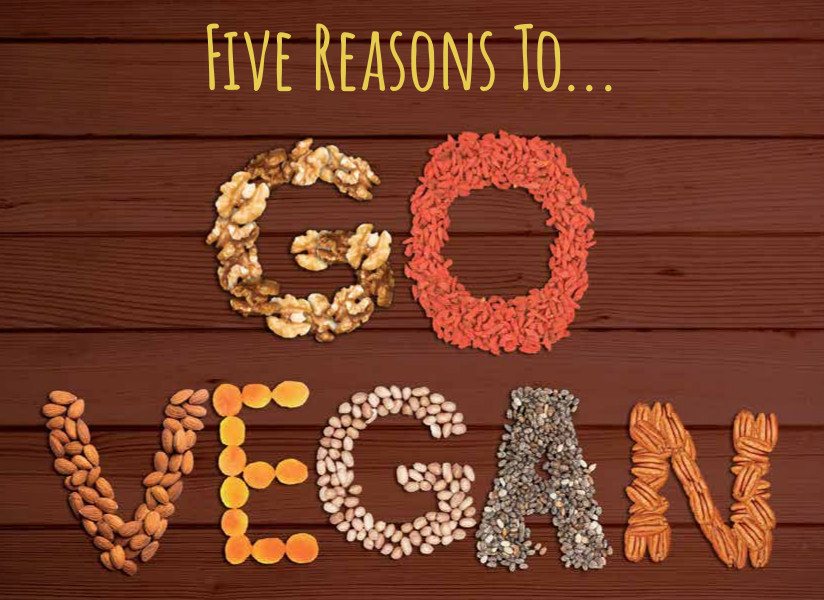 Five Reasons to Go Vegan