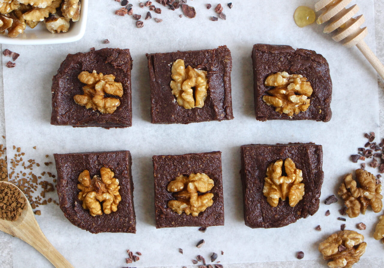 Coffee & Walnut Brownies