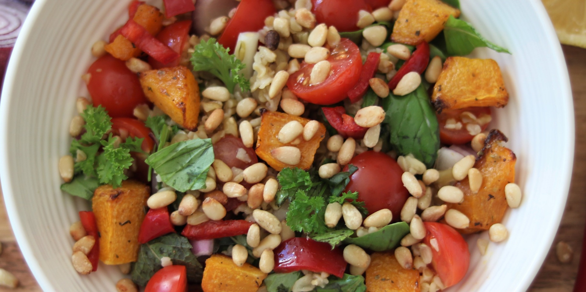 Butternut Squash and Pine Nut Salad