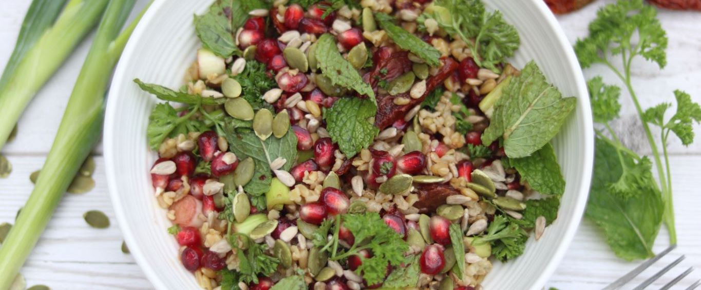 Minty Pomegranate Salad