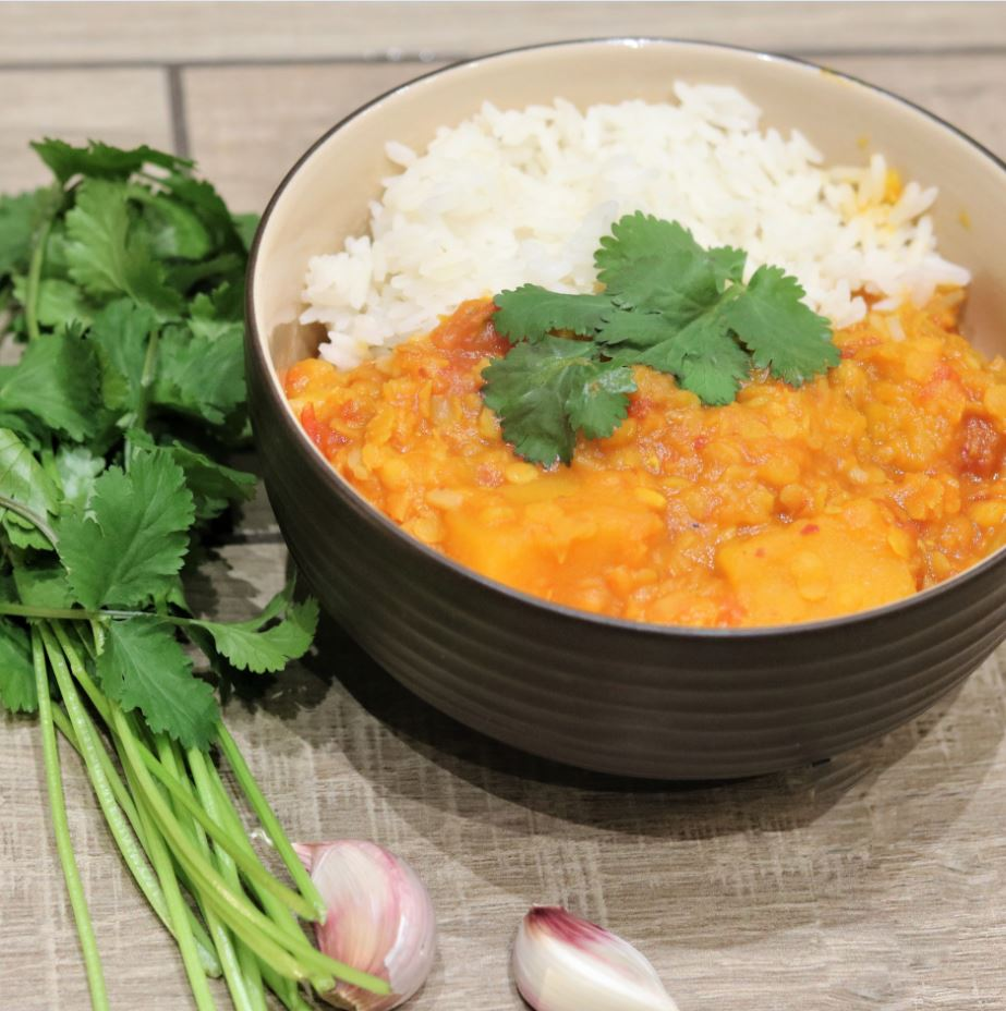 Spicy Pumpkin Lentil Dahl