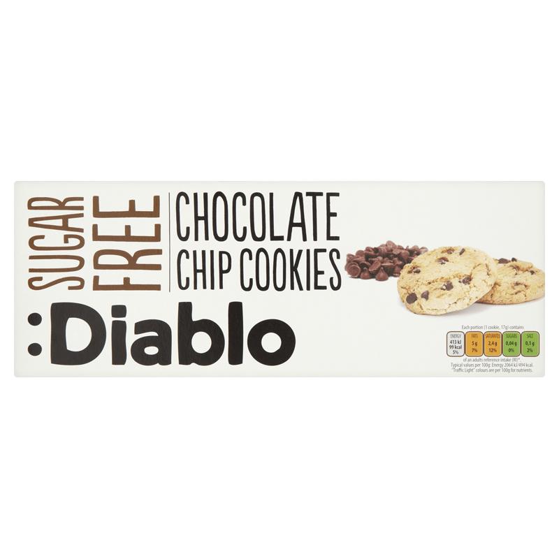 Diablo Sugar Free Chocolate Chip Cookies 135g